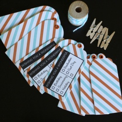 Airmail Gift Tag Set: Wishing You. . .