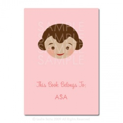 Little Pals Custom Bookplates: Asa