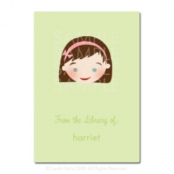 Little Pals Custom Bookplates: Harriet