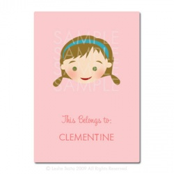 Little Pals Custom Bookplates: Clementine