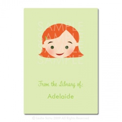 Little Pals Custom Bookplates: Adelaide