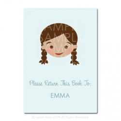 Little Pals Custom Bookplates: Emma