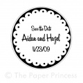 "Custom Wedding Rubber Stamp: ""Aidan + Hazel"""
