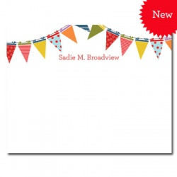 Personalized Noteflats: Pennants *NEW*