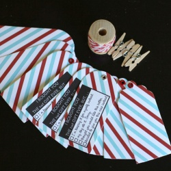 Airmail Gift Tag Set: I bought you the best gift . . .