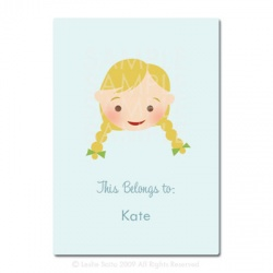Little Pals Custom Bookplates: Kate