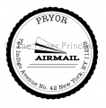 "Round Scallop Paper Airplane: ""Pryor"""