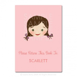 Little Pals Custom Bookplates: Scarlett