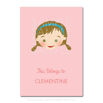 Little Pals Custom Bookplates: Clementine - Click Image to Close