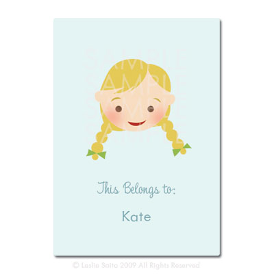 Little Pals Custom Bookplates: Kate - Click Image to Close