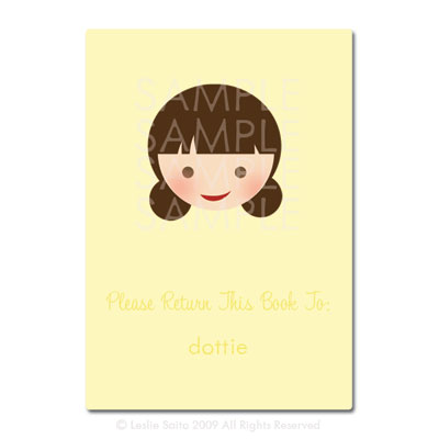 Little Pals Custom Bookplates: Dottie - Click Image to Close