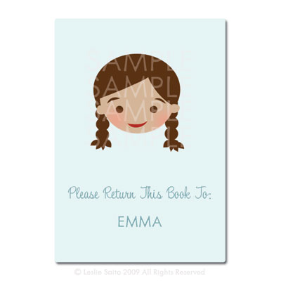 Little Pals Custom Bookplates: Emma - Click Image to Close