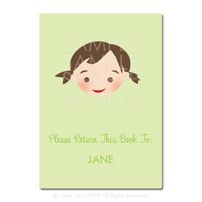 Little Pals Custom Bookplates: Jane - Click Image to Close