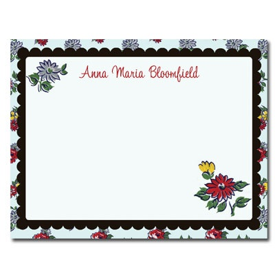 Personalized Noteflats: Vintage Flowers - Click Image to Close