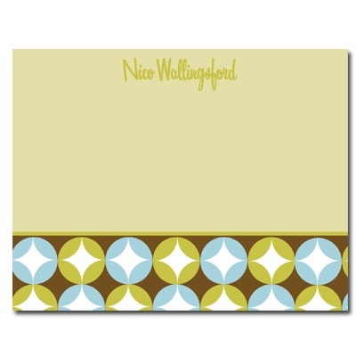 Personalized Noteflats: Retro Circles (Green) - Click Image to Close