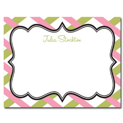 Personalized Noteflats: Antique Label (Pink) - Click Image to Close