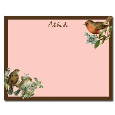 Personalized Noteflats: Victorian Bird - Click Image to Close