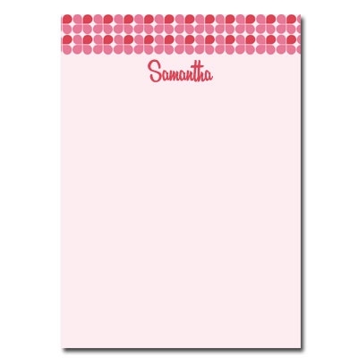 Personalized Stationery: Pink Clover - Click Image to Close