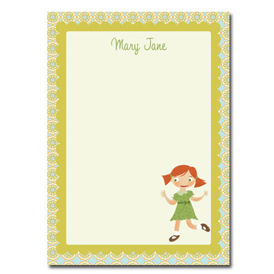 Personalized Stationery: Mary Jane - Click Image to Close