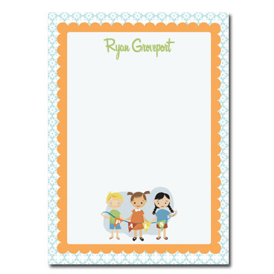 Personalized Stationery: 1950s Pals - Click Image to Close