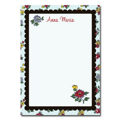 Personalized Stationery: Vintage Flowers - Click Image to Close