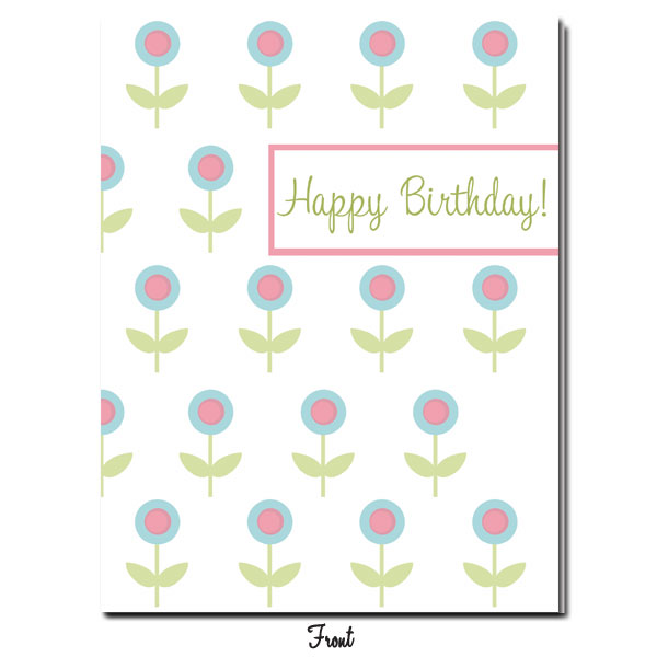 Blue Floral Pop Happy Birthday! - Click Image to Close