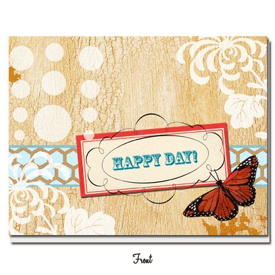 Vintage Vibe - Happy Day! Greeting Card - Click Image to Close
