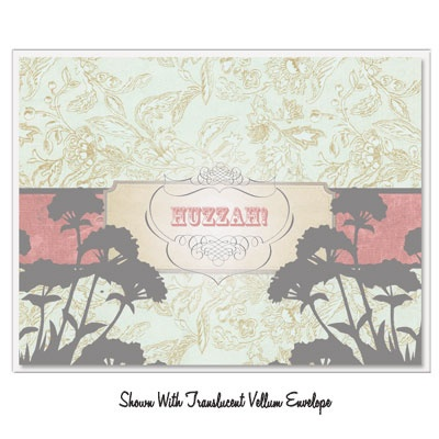 Vintage Vibe - Huzzah! Greeting Card - Click Image to Close
