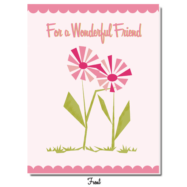 Pink Daisy: For a Wonderful Friend - Click Image to Close