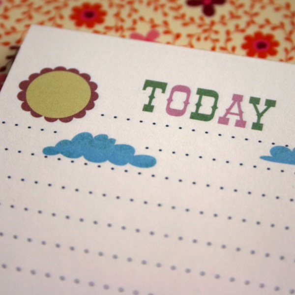 TODAY Lined Notepad - Click Image to Close