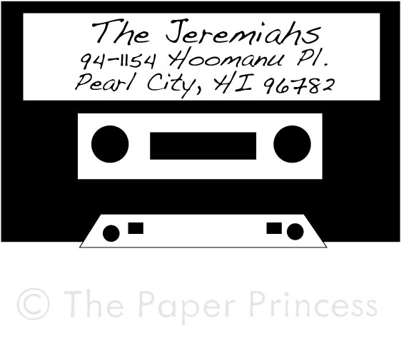 "Return Address Cassette Stamp: ""The Jeremiahs"" - Click Image to Close"