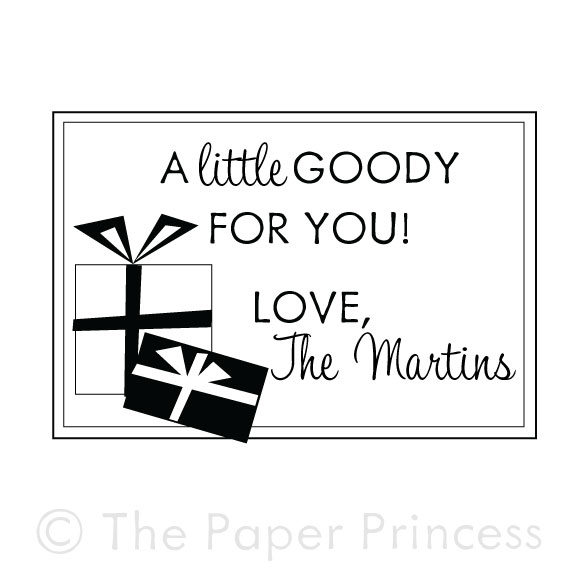"Custom Gift Tag Rubber Stamp: ""The Martins"" - Click Image to Close"