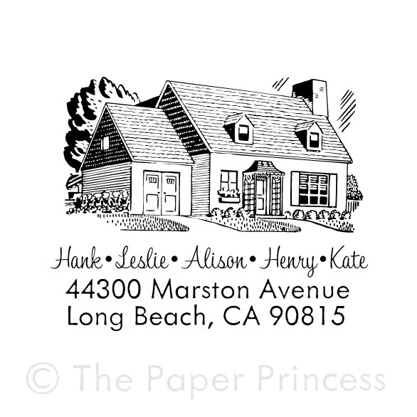 Return Address House Stamp - Click Image to Close