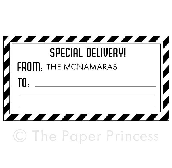 "Airmail Gift Tag: ""Special Delivery"" - Click Image to Close"