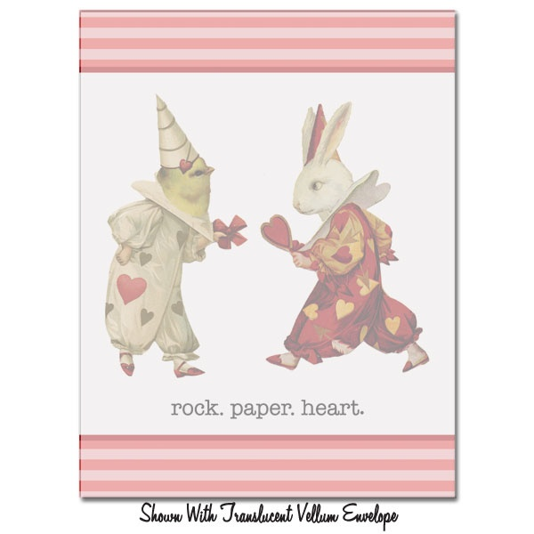 Rock. Paper. Heart. Valentine's Greeting - Click Image to Close