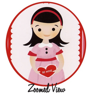 Valentine Girls Noteflats : Vintage inspired stationery and bookplates :  girls valentines day noteflats valentine