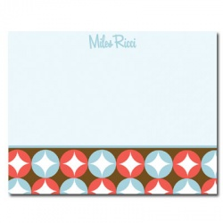 Personalized Noteflats: Retro Circles (Blue)