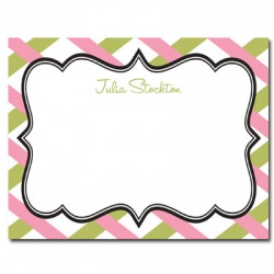 Personalized Noteflats: Antique Label (Pink)