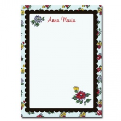 Personalized Stationery: Vintage Flowers
