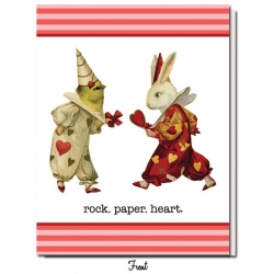 Rock. Paper. Heart. Valentine's Greeting
