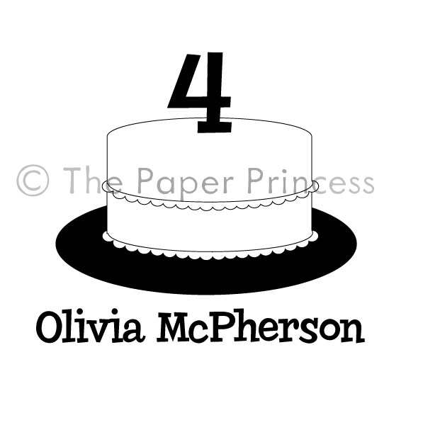 "Custom Birthday Cake: ""Olivia"" - Click Image to Close"