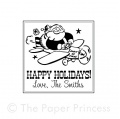 "Happy Holidays Rubber Stamp: ""Vintage Santa"""