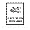 "Custom Gift Tag Rubber Stamp: ""Bird"""