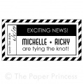 "Custom Wedding Rubber Stamp: ""Michelle + Ricky"""