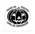 "Halloween Rubber Stamp: ""Pumpkin"""