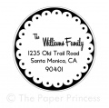 "Return Address Scallop Stamp: ""Williams"""