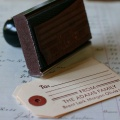 "Custom Gift Tag Rubber Stamp: ""The Adams"""