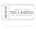 "Custom Wedding Rubber Stamp: ""Tom + Sabrina"""